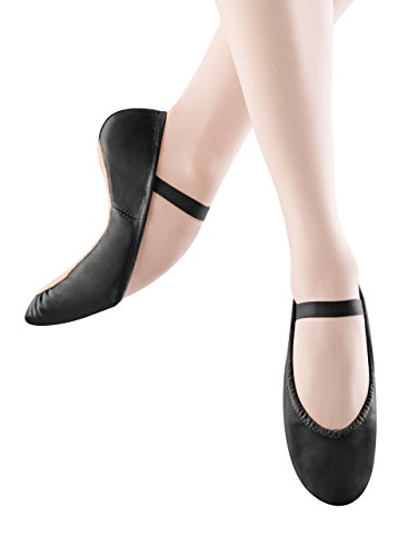 Bloch Dance Women's Dansoft Full Sole Leather Ballet Slipper/Shoe, Black, 7 Narrow -