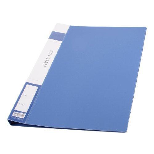 uxcell metal clip binder blue plastic document file folder With document binder folder