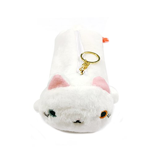 ALLYDREW Plush Cat Toy Pencil Pouch, White
