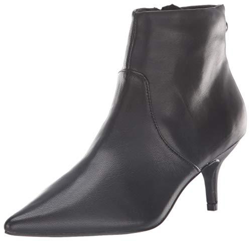 Steve Madden Women's Rome Ankle Boot, Black Leather, 7 M US
