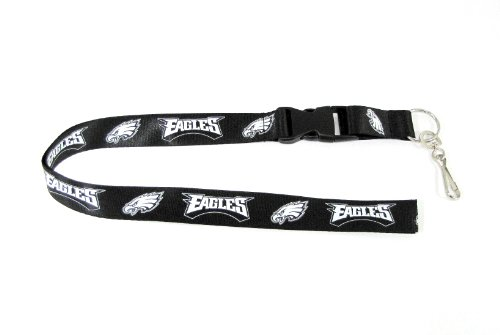 NFL Philadelphia Eagles Lanyard, Blackout Eagle Group Snap