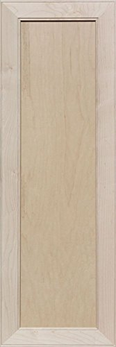 Unfinished Maple Mitered Flat Panel Cabinet Door by Kendor, 39H x 13W by Kendor