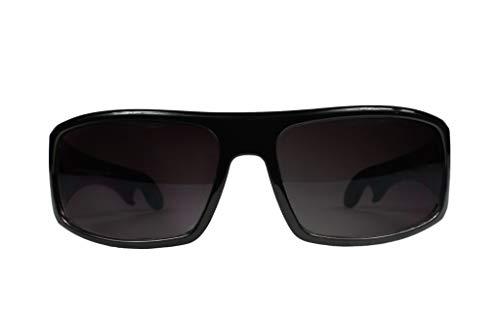 (Playmakers Sport Sunglasses with Built-in Bottle Opener! (Black/Black Polarized Lenses))