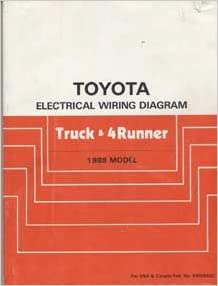 TOYOTA Electrical    Wiring       Diagram        Truck      4Runner  1988