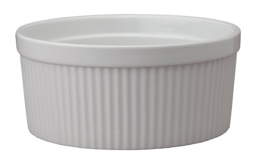 HIC Harold Import Co. 98012 Souffle, Fine White Porcelain, 8-Inch, 64-Ounce,