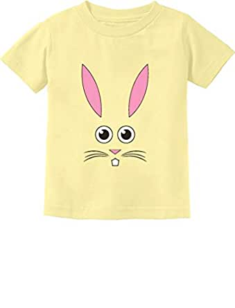 Tstars - Cute Little Easter Bunny Face - Funny Easter Toddler Kids T-Shirt 2T Banana