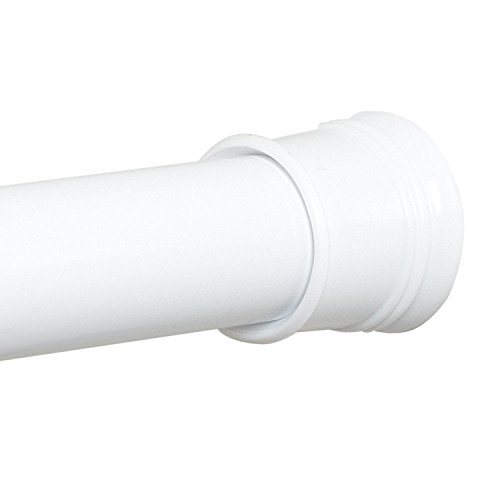Zenna Home 886WW, Tension Shower Curtain Rod, 52 to 86 Inches, White well-wreapped