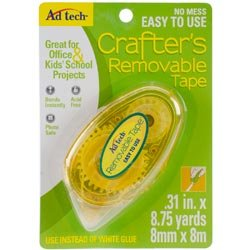(Ad-Tech Adhesives Bulk Buy (4-Pack) Crafter's Tape Repositionable Glue Runner .31 inch x 8.5 Yard 05632)