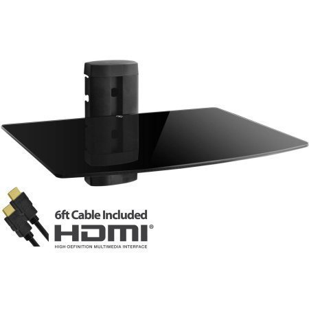 Adjustable Shelf for DVD Player, Cable Box/Receiver and Gaming Consoles with HDMI Cable, UL Certified by Com