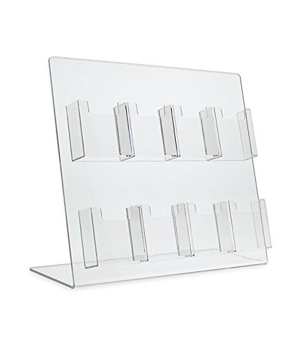 Amazon source one deluxe 8 pocket vertical counter top clear source one deluxe 8 pocket vertical counter top clear acrylic business card holder colourmoves