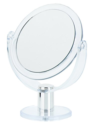 Danielle Creations Clear Round Vanity Mirror, 5X Magnification