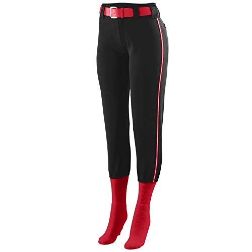 Augusta Sportswear Women's Collegiate Low Rise Softball Pant M Black/Red/White