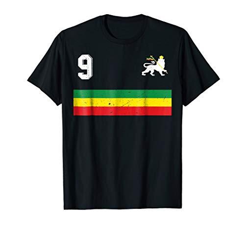 Retro Ethiopia Football Jersey Rastafari Football Jersey 9 (Ethiopia Football)