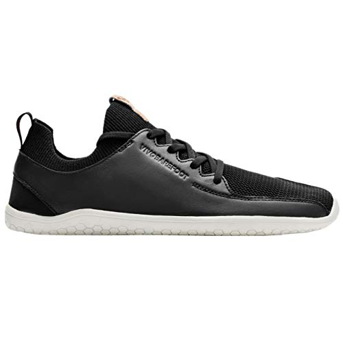 vivobarefoot Men's Primus Knit Leather Black 41 D EU from vivobarefoot