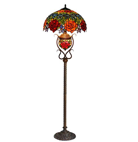 AO-Lamps Lamp Lantern, Glass Art Decoration Living Room Lamp Double Colored Rose. (Glass Pendant Light Rose)