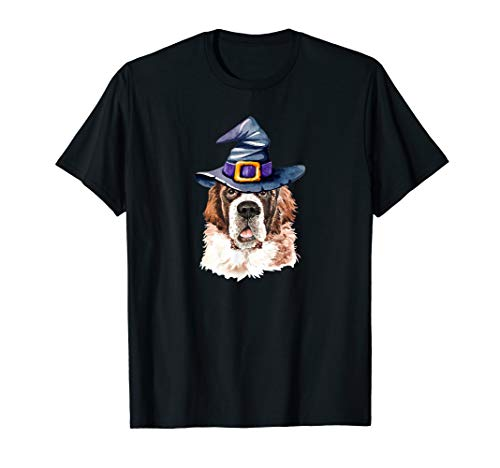 Saint Bernard Puppy Halloween (Saint Bernard Witch Hat Dog Lovers Halloween Gift)