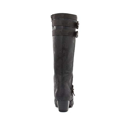 Long Double Black Black Buckle Lilley Leg Womens Boot f7TpqqEwn