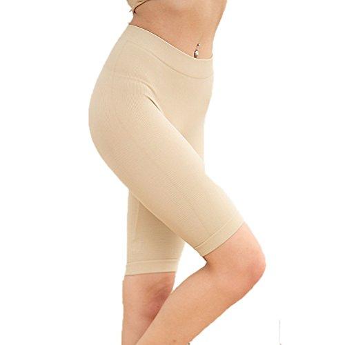 Nanxson(TM) Women's Close-fit Pants Shapewear Waist Thigh Slimmer NKW0009 (beige)