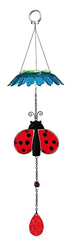 Evergreen Ladybug Color Changing Flower Top Solar Mobile Solar Ladybug Lights
