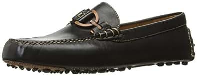 Donald J Pliner Men's Riel Slip-On Loafer, Black Waxy Calf, 8 M US