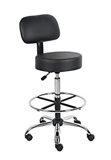 Boss Office Products B16245-BK Be Well Medical Spa Drafting Stool with Back, Black (B004I3ZRQM) | Amazon Products