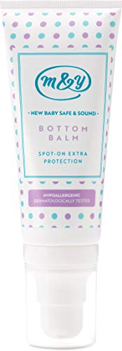 Mum&You New Baby Safe & Sound Bottom Balm, 1 ea (3.38 fl oz), Formulated with Zinc Oxide, Beeswax and Panthenol to Hydrate The Skin and to Create a Gentle and Effective Barrier on The Skin