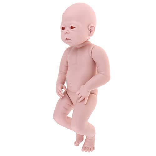 Prettyia 未塗装 22インチ リボーンキット フルボディ ビニール製 空白 新生児 目覚め 赤ちゃん 女の子 人形 子供用 ハンドオンおもちゃ