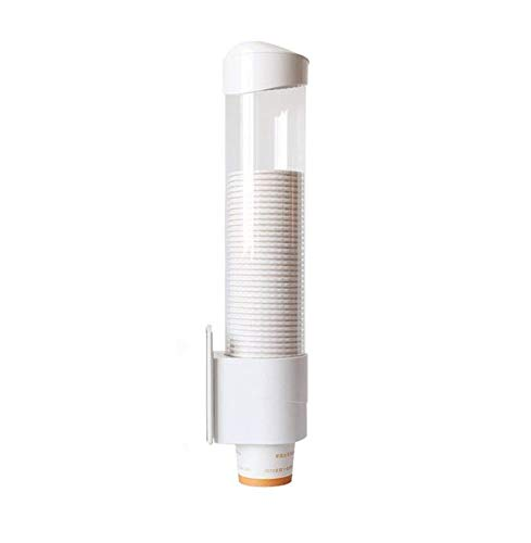 - SMKF Cup Dispenser Magnetic&Screw Plate Mountable, WHITE