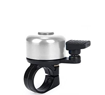 BLACK ONE TOUCH BICYCLE HANDLE BAR BELL PING RING LEVER CYCLE PUSH BIKE by UniversalGadgets