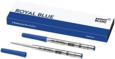 """Montblanc """"Royal Blue"""" 124493 Kugelschreiber Ersatzminen M – 2 x Kugelschreibermine blau – Ballpen Refill"""
