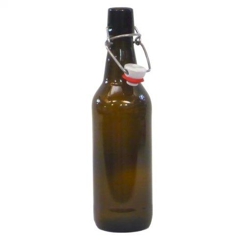 Amber Swing Top Beer Bottles (12) - Complete