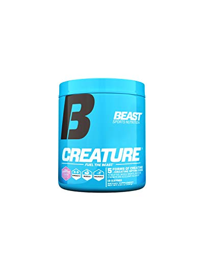 Beast Sports Nutrition - Creature Creatine Complex - Fuel Muscle Growth - Optimize Muscle Strength - Enhance Endurance - Increase Recovery Time - Five Forms of Creatine - Pink Lemonade 60 Servings