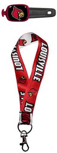 WinCraft Bundle 2 Items: University of Louisville Cardinals Key Strap Key Chain and Stwrap Bag id by WinCraft