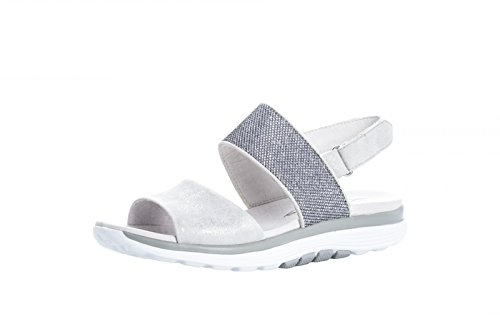 90 914 Silver Gabor sandale doux argent roulement Damen en Metallic 66 B4Un5UzxE
