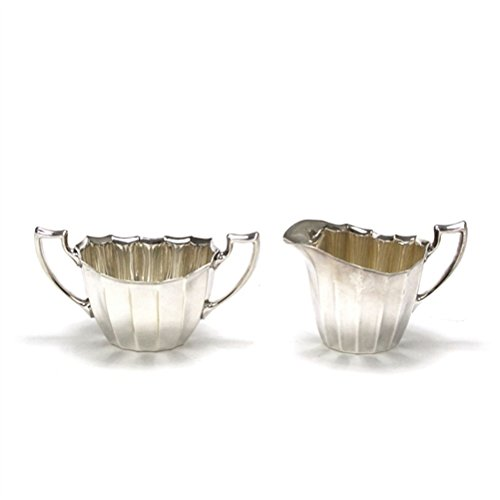 Cream Pitcher & Sugar Bowl by Reed & Barton, (Faceted Pitcher)