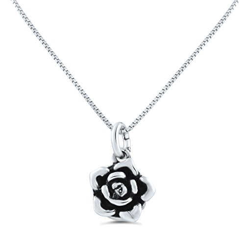 le Sided Rose Flower Necklace (18