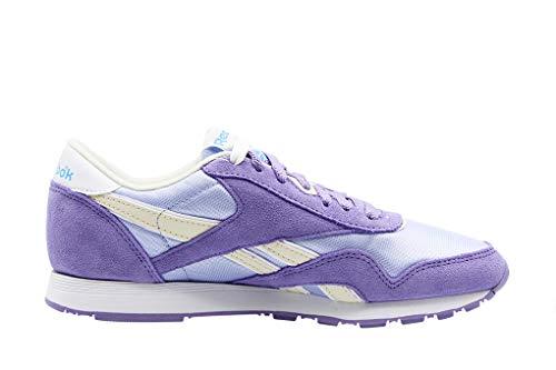 Violet Fitness Reebok White 000 de Nylon Frozen Smoky Cl Multicolore Lilac Chaussures Femme SqZS6v