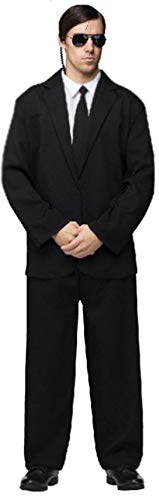 (FunWorld Men's Black Suit Complete, Black/White, One Size)