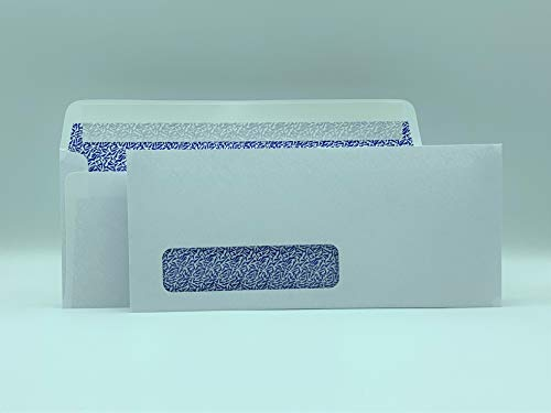 Cashier Depot #10 Business Envelope, Peel & Seal, Left Window, Security-Tinted, White (100)