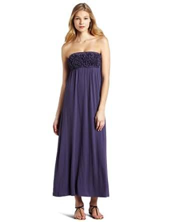 Design History Women's Rosette Tube Maxi Dress, Indigo Ink, X-Small