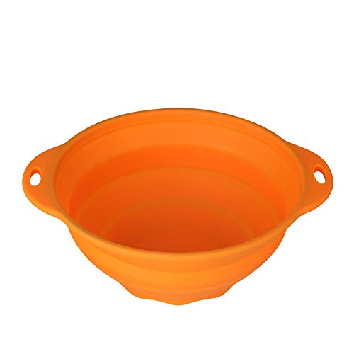 Jovilife Collapsible Mixing Bowl, Silicone Mixing bowl Orange(9 Cups/71oz) - Orange Small Bowl