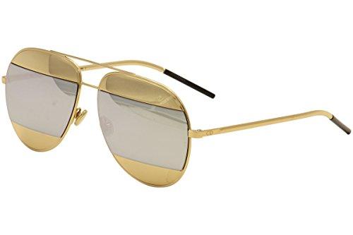 62163878301b6a Dior 0 Rose Gold DiorSplit1 Aviator Sunglasses Lens Category 3 Lens  Mirrored Si