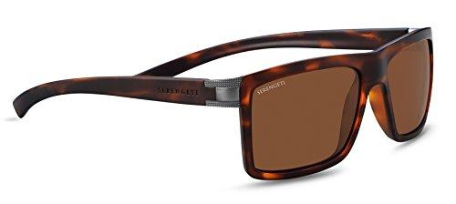 Serengeti Brera Sunglasses, Satin Tortoise Frame/Satin Medium Gunmetal by Serengeti