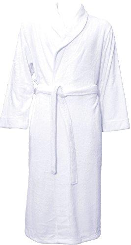 Simplicity Luxury Plush Spa Bath Robe Long Spa Wrap for Women/Men Solid Color