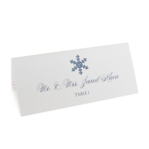 Snowflake Place Cards, Assorted Designs, Pearl White, Set of 300 by Documents and Designs