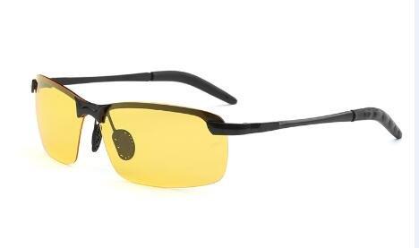 TIANLIANG04 Conducción Metálico Polarizado Deporte Con De Sin Negro yellow Herraje Gafas Del Plateado Hombres De Hombres 0wrRqxPp0A