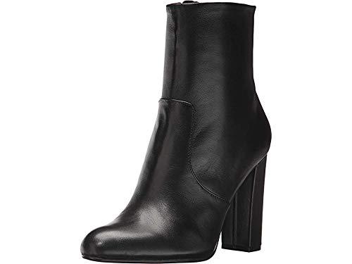 Steve Madden Women's Editor Ankle Boot, Black Leather, 8 M US (Steve Madden Ankle Boots)