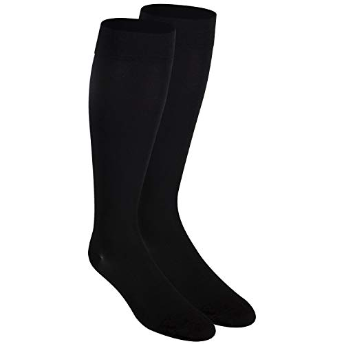 Nuvein Compression Socks for Women and Men, Medical Support Stockings, Black (Closed Toe), X-Large (20-30 mmHg)