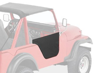 Bestop 53025-01 Black Crush Fabric Lower Half Door Set for 1951-1962 M38A1; 1955-1975 CJ-5; 1955-1981 CJ-6 - Door Latch Pivot