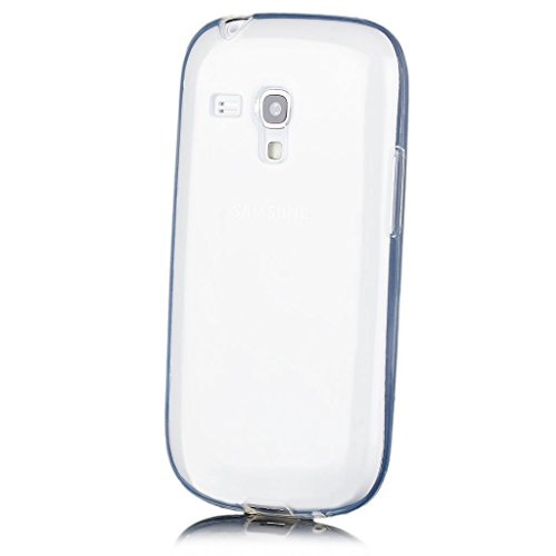 iCues | Compatible with Samsung Galaxy S3 Mini | Transparent TPU Case Clear | [Screen Protector Included] Clear Rubber Cover Crystal Transparent Silicone Shell TPU Minimalist (Samsung Galaxy S3 Cases Clear)